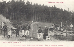 Col de Ste-Marie & borne before War written 1918