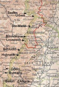 Cols on map