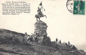 Ballon d'Alsace statue de Jeanne d'arc