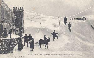 Ballon d'Alsace Jumenterie engloutie sous la neige