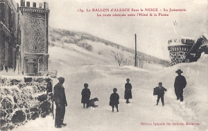 Ballon d'Alsace Jumenterie in snow