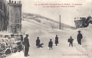 Ballon d'Alsace Jumenterie in snow