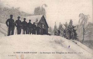Ballon d'Alsace la Baraque des Douanes en hiver written 1911