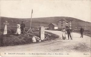 Ballon d'Alsace La Borne people and dog