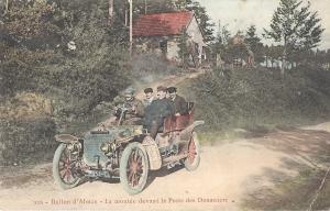 Ballon d'Alsace La montée devant le Poste des Douaniers posted 1907