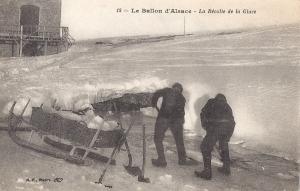 Ballon d'Alsace la récolte de la glace