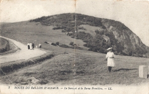 Ballon d'Alsace Le Sommet et la Borne Frontiere 1914