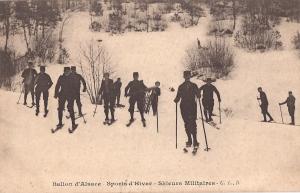 Ballon d'Alsace Skieurs Militaires card 1917