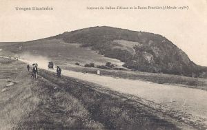 Ballon d'Alsace Summit car people borne