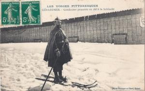 Col de la Schlucht Prussian gendarme posted 1910