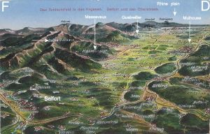 Picture map Belfort labelled