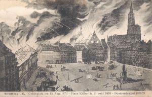 Strasbourg Place Kleber bombardment 1870