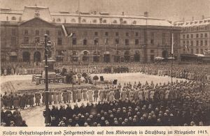 Strasbourg Place Kleber Kaiser's birthday & open air service 1915
