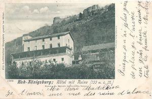 Haut Koenigsburg Hoh-Konigsburg Hotel mit ruines