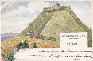 Haut Koenigsburg posted 1901