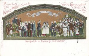 Visit of Kaiser & Crown Prince to Strasbourg 1877 posted 1910