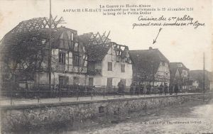 Asbach le Haut military card posted April 1914