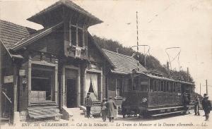 Col de la Schlucht German customs building & tram
