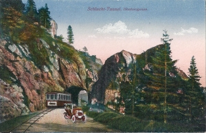 Col de la Schlucht tunnel with tram
