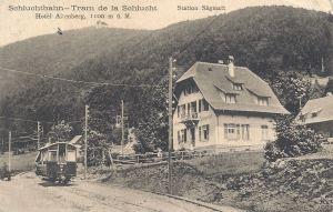 Sagmatt Schlucht tram  posted 1912
