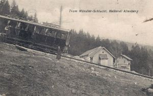 Tram Munster-Schlucht Melkerei Altenburg posted 1907