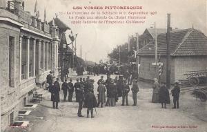 Col de la Schlucht 11 septembre 1908 après arrivée de l'Empereur Guillaume