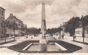 02 Mulhouse monument aux morts posted 1930
