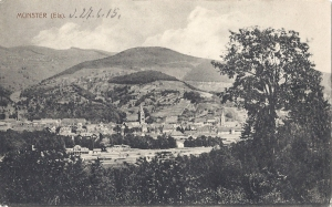 05 Munster facing towards Hohrod posted 1915