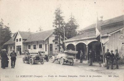 06 Col de la Schlucht poste de Douane française posted 1917