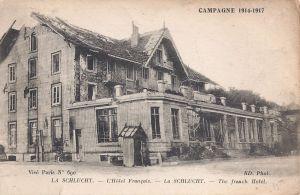 08 Col de la Schlucht destoyed hotel written 1917