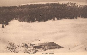 14 Kahlenwasen in snow, military postcard