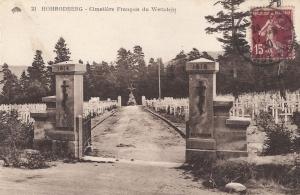 15 Wettstein cimetiere posted 1930