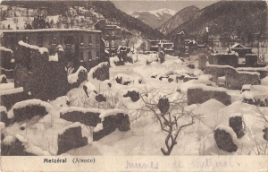 16b  Metzeral ruines in snow posted 1919