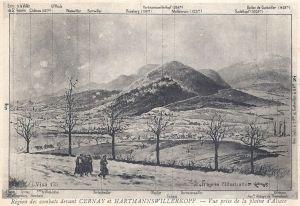 23 HWK région des combats devant Cernay et HWK posted 1916