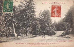 02 Col de la Chipote with monument posted 1920