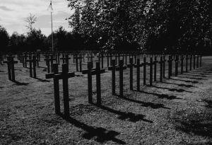 Col  de la Chipotte cemetery bw