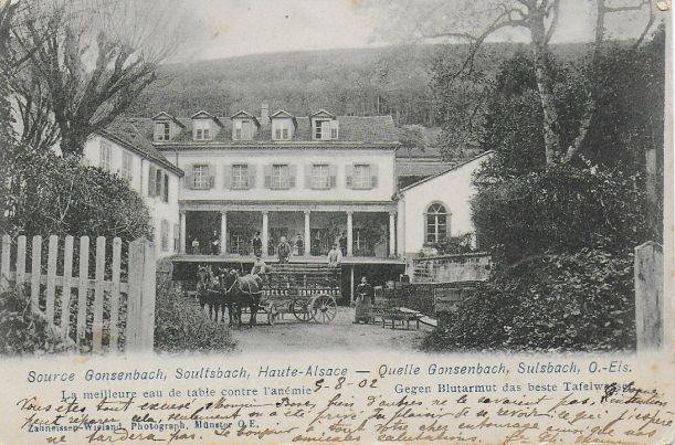Soultzbach source Gonzenbach - spa 1902